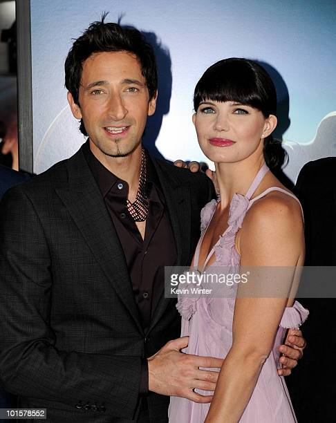 Actors Adrien Brody and Delphine Chaneac arrive at the premiere of Warner Bros Pictures' Splice at the Chinese Theater on June 2 2010 in Los Angeles...