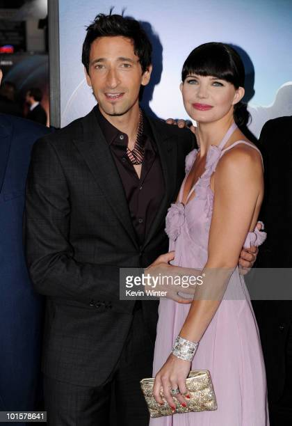 """Actors Adrien Brody and Delphine Chaneac arrive at the premiere of Warner Bros. Pictures' """"Splice"""" at the Chinese Theater on June 2, 2010 in Los..."""