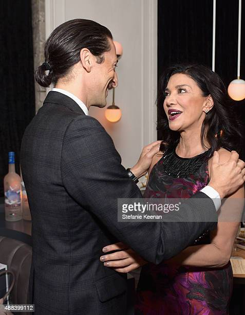 Actors Adrien Brody and Shohreh Aghdashloo attend the Septembers of Shiraz TIFF Party Hosted By GREY GOOSE Vodka at Byblos on September 15 2015 in...