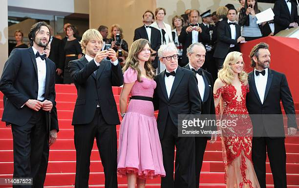 Actors Adrien Brody Owen Wilson Lea Seydoux Director Woody Allen Frederic Mitterrand Rachel McAdams and Michael Sheen attend the Opening Ceremony and...