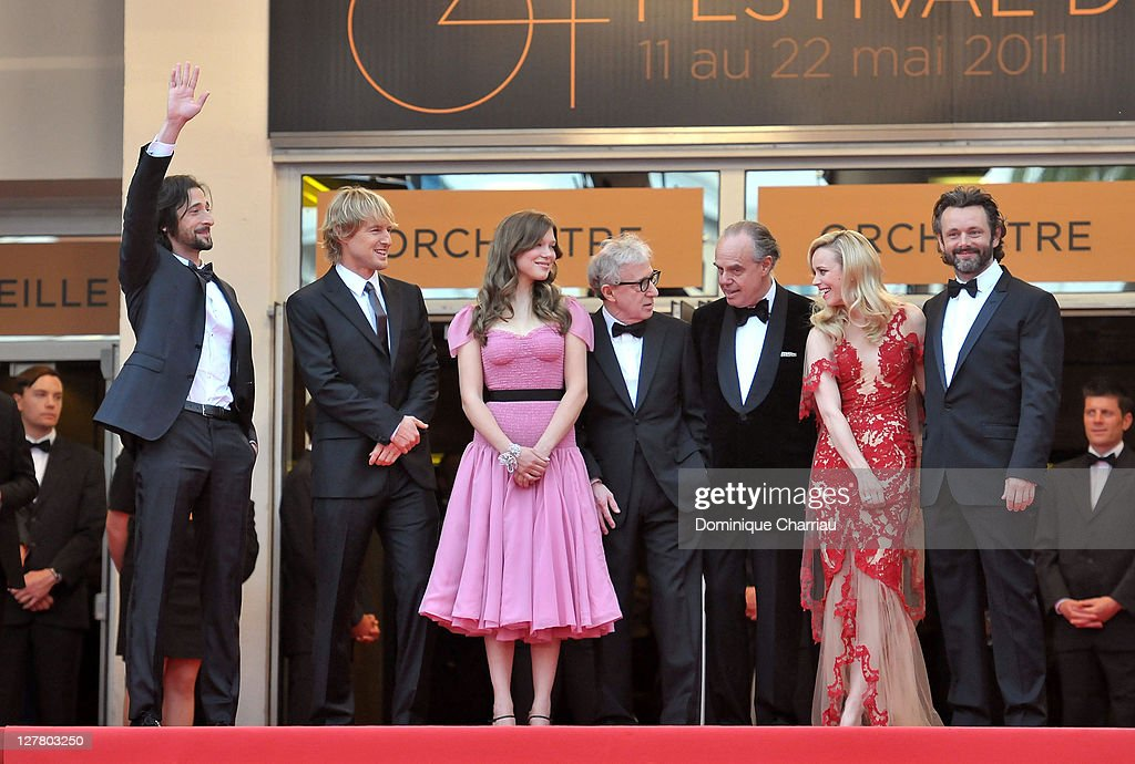 Actors Adrien Brody, Owen Wilson, Lea Seydoux, Director Woody Allen, Frederic Mitterrand, Rachel McAdams and Michael Sheen attend the Opening Ceremony and 'Midnight In Paris' Premiere at the Palais des Festivals during the 64th Cannes Film Festival on May 11, 2011 in Cannes, France.