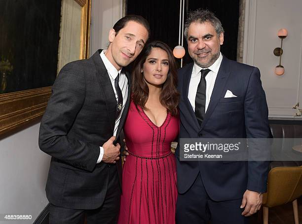 Actors Adrien Brody Salma Hayek and director Wayne Blair attend the Septembers of Shiraz TIFF Party Hosted By GREY GOOSE Vodka at Byblos on September...