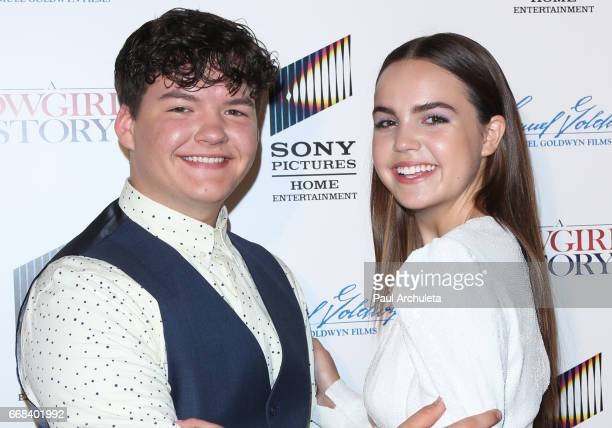 Actors Aedin Mincks and Bailee Madison attend the premiere of 'A Cowgirl's Story' at Pacific Theatres at The Grove on April 13 2017 in Los Angeles...