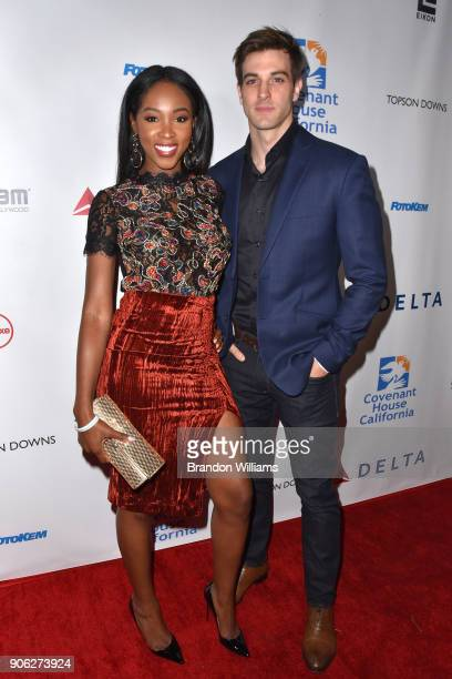Actors Aeja Lee and Jake Allyn attends the Covenant House of California 'An Evening of Dreams' Gala at Dream Hotel on January 17 2018 in Hollywood...