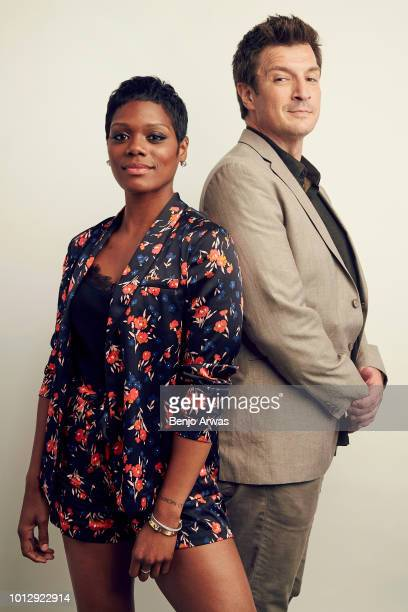 Actors Afton Williamson and Nathan Fillion of ABC's 'The Rookie' pose for a portrait during the 2018 Summer Television Critics Association Press Tour...