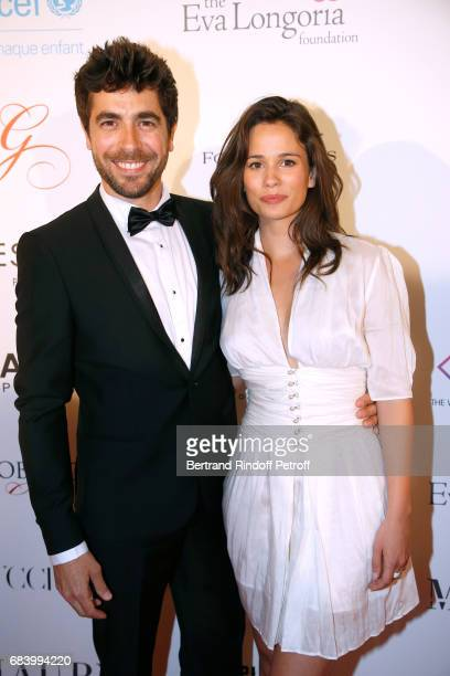 Actors Agustin Galiana and Lucie Lucas attend the Global Gift the Eva Foundation Gala Photocall at Hotel George V on May 16 2017 in Paris France
