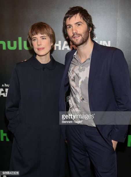 Actors Agyness Deyn and Jim Sturgess attend the 'Hard Sun' Series premiere at Regal Union Square on February 28 2018 in New York City