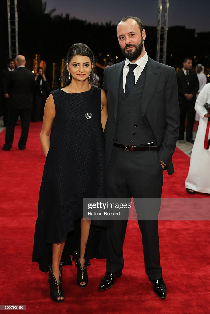 Actors Ahd Kamel and Ali Suliman attend the 'Zinzana (Rattle The Cage)' premiere during day two of the 12th annual Dubai International Film Festival held at the Madinat Jumeriah Complex on December 10, 2015 in Dubai, United Arab Emirates.