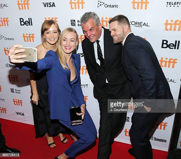 Actors Ahna O' Reilly Yvonne Strahovski Danny Huston and Wes Chatham attend the 2016 Toronto International Film Festival Premiere of 'All I See Is...