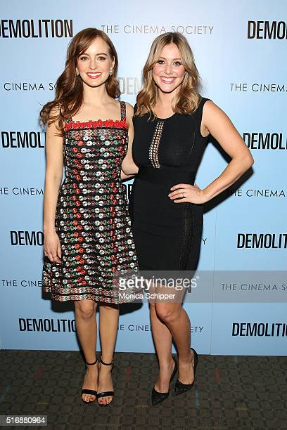 Actors Ahna O'Reilly and Julianna Guill attend Fox Searchlight Pictures with The Cinema Society Host A Screening of 'Demolition' at SVA Theatre on...