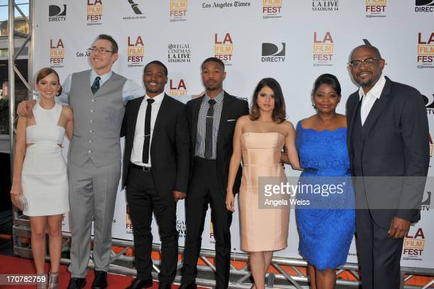 Actors Ahna O'Reilly, Kevin Durand, Director Ryan Coogler, actors Michael B. Jordan, Melonie Diaz, Octavia Spencer and producer Forest Whitaker...