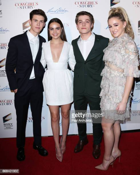 Actors Aidan Alexander Bailee Madison Froy Gutierrez and Chloe Lukasiak attend the premiere of 'A Cowgirl's Story' at Pacific Theatres at The Grove...