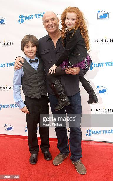 Actors Aidan Potter Corbin Bernsen and Francesca Capaldi attend '3 Day Test' Los Angeles Premiere at Downtown Independent Theatre on December 8 2012...