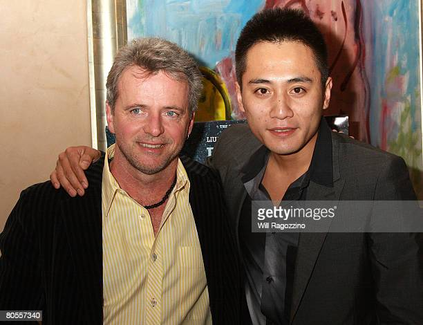 Actors Aidan Quinn and Liu Ye attend a private screening of Dark Matter at the Tribeca Grill on April 7 2008 in New York City