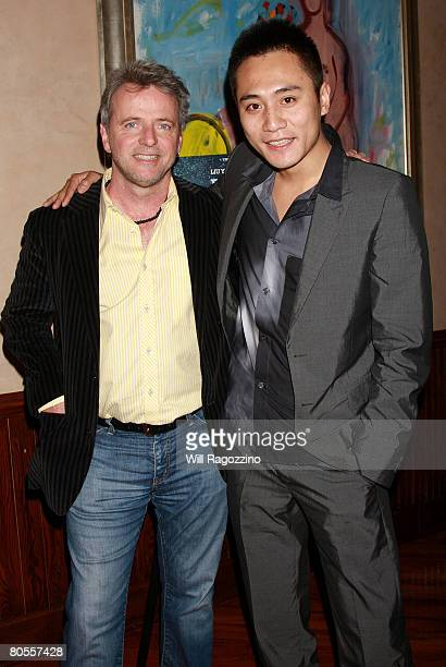 Actors Aidan Quinn and Liu Ye attend a private screening of 'Dark Matter' at the Tribeca Grill on April 7 2008 in New York City