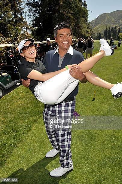 Actors Aimee Garcia and George Lopez at the Third Annual George Lopez Celebrity Golf Classic at the Lakeside Golf Club on May 3, 2010 in Toluca Lake,...