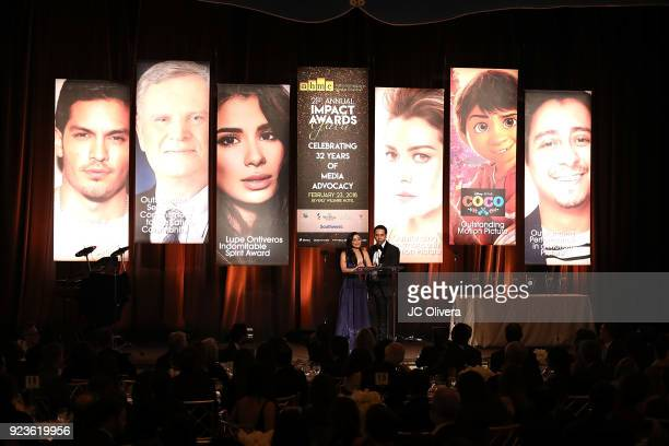 Actors Aimee Garcia and Vladimir host the 21th Annual National Hispanic Media Coalition Impact Awards Gala at Regent Beverly Wilshire Hotel on...