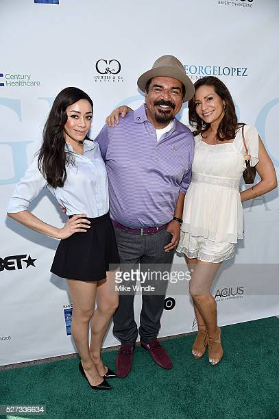 Actors Aimee Garcia Constance Marie and George Lopez attend the 9th Annual George Lopez Celebrity Golf Classic to benefit The George Lopez Foundation...