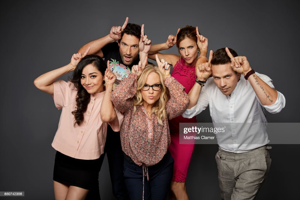 Actors Aimee Garcia, Tom Ellis, Rachael Harris, Tricia Helfer and Kevin Alejandro from Lucifer are photographed for Entertainment Weekly Magazine on July 22, 2017 at Comic Con in San Diego, California. PUBLISHED