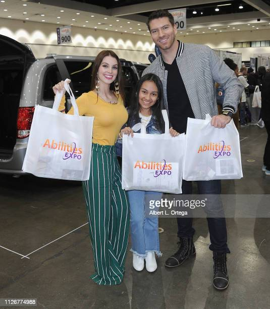 Actors Ainsley Ross Isabella Ross and Jesse Kove attend The 2019 Abilities Expo held at Los Angeles Convention Center on February 22 2019 in Los...