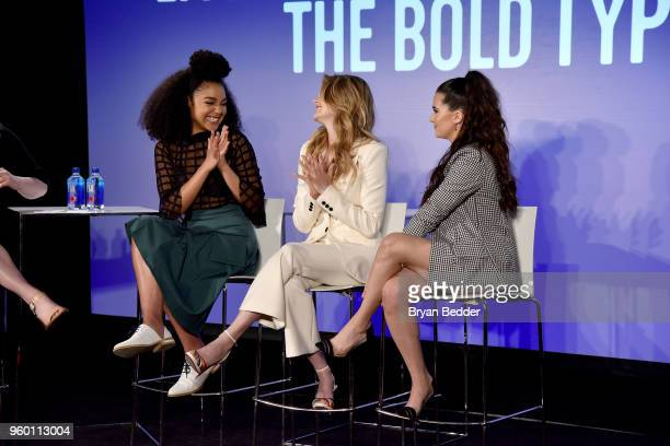 Actors Aisha Dee Meghann Fahy and Katie Stevens of The Bold Type speak onstage at Vulture Festival Presented By ATT LIVE YOUR BEST LIFE WITH THE BOLD...