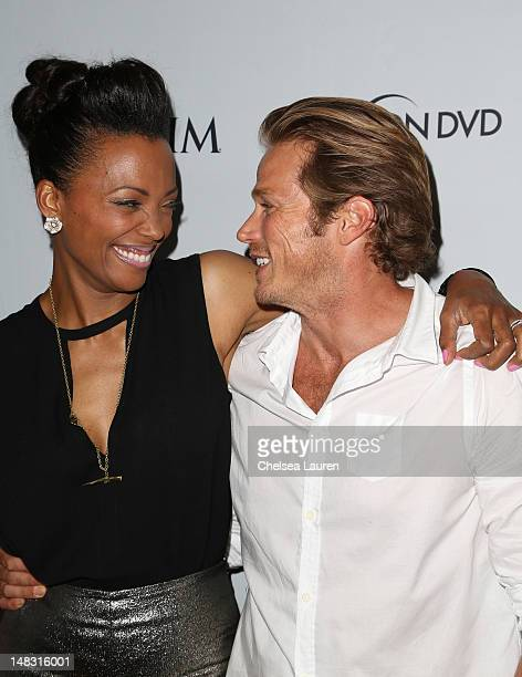 Actors Aisha Tyler and Jason Lewis attends the Maxim FX and Fox Home Entertainment ComicCon Party at Andaz on July 13 2012 in San Diego California
