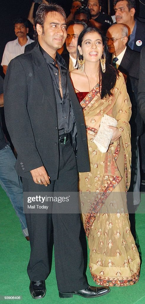 Actors Ajay and Kajol Devgan at the premiere of the film �Paa� in Mumbai on Thursday December 3 2009