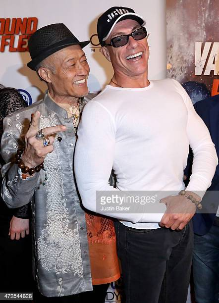 Actors Aki Aleong and JeanClaude Van Damme attend the premiere of Pound Of Flesh at Pacific Theaters at the Grove on May 7 2015 in Los Angeles...