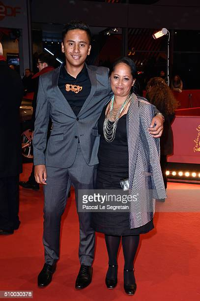 Actors Akuhata Keefe and Nancy Brunning attend the 'The Patriarch' premiere during the 66th Berlinale International Film Festival Berlin at Berlinale...