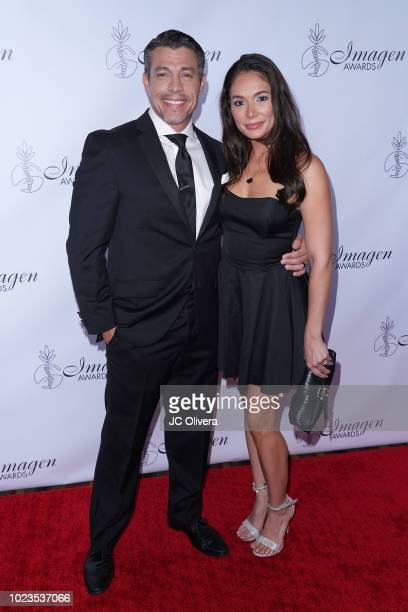 Actors Al Coronel and Christiana Leucas attend the 33rd Annual Imagen Awards at JW Marriott Los Angeles at LA LIVE on August 25 2018 in Los Angeles...
