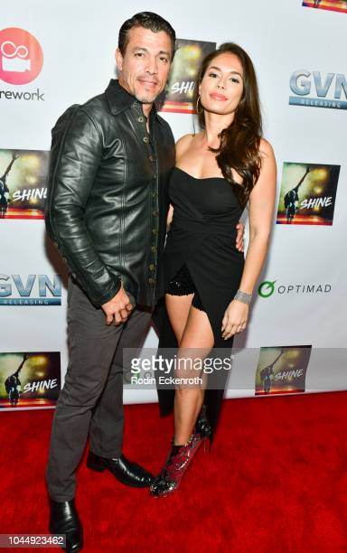 Actors Al Coronel and Christiana Leucas attend the premiere of GVN Releasing's Shine at Harmony Gold on October 2 2018 in Los Angeles California