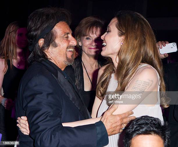 Actors Al Pacino and Angelina Jolie attend The 23rd Annual Palm Springs International Film Festival Awards Gala at the Palm Springs Convention Center...