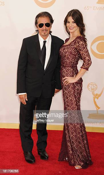 Actors Al Pacino and Lucila Sola arrive at the 65th Annual Primetime Emmy Awards at Nokia Theatre L.A. Live on September 22, 2013 in Los Angeles,...