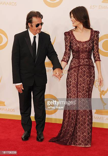 Actors Al Pacino and Lucila Sola arrive at the 65th Annual Primetime Emmy Awards at Nokia Theatre LA Live on September 22 2013 in Los Angeles...