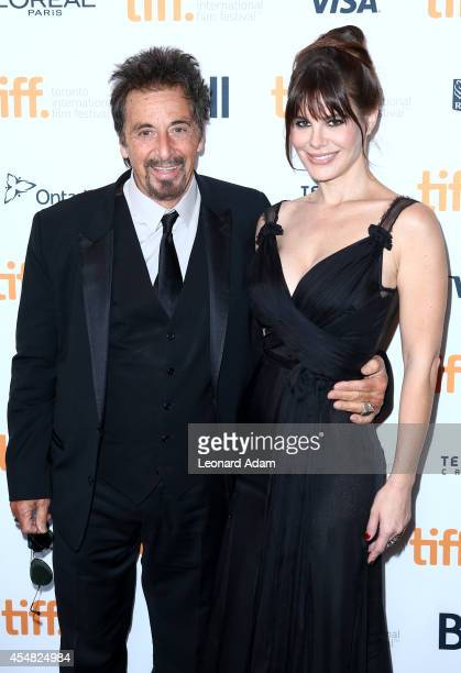 Actors Al Pacino and Lucila Sola attend the 'Manglehorn' Premiere during the 2014 Toronto International Film Festival at Winter Garden Theatre on...