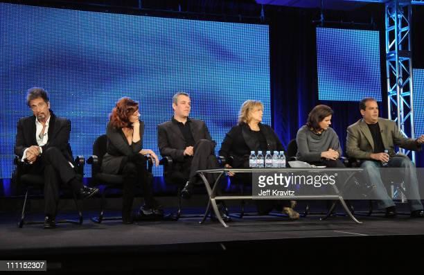 "Actors Al Pacino, Susan Sarandon, Danny Huston, Brenda Vaccaro, executive producer Lydia Pilcher, and writer Adam Mazer of ""You Don't Know Jack""..."