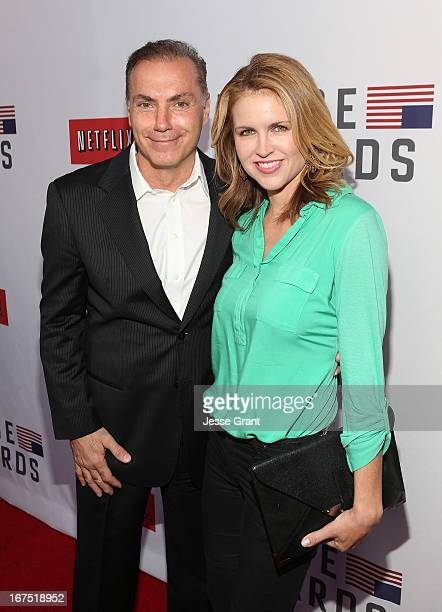 Actors Al Sapienza and Laurie Fortier attend Netflix's House of Cards For Your Consideration QA on April 25 2013 at the Leonard H Goldenson Theatre...