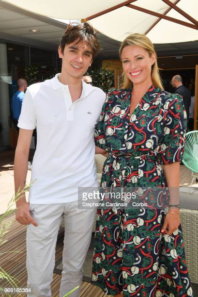 Actors Alain Fabien Delon and Kiera Chaplin attend the 2018 French Open Day Twelve at Roland Garros on June 7 2018 in Paris France