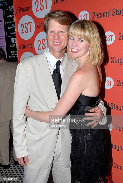Actors Alan Campbell and Lauren Kennedy attend the OffBroadway opening night after party for 'The Vanities' at HB Burger July 16 2009 in New York City