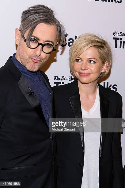 Actors Alan Cumming and Michelle Williams attend TimesTalk Presents An Evening With 'Cabaret' at TheTimesCenter on February 24 2014 in New York City