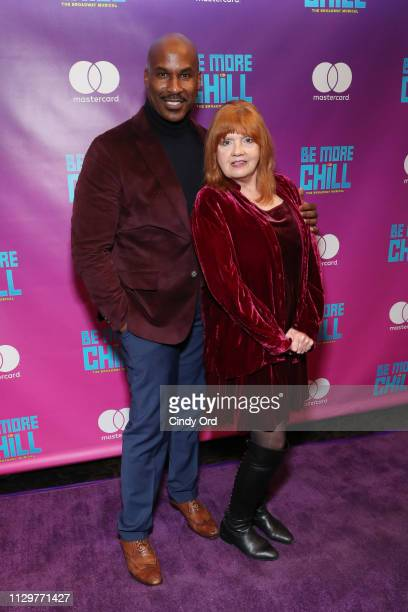 Actors Alan H Green and Annie Golden attend the opening night of 'Be More Chill' at Lyceum Theatre on March 10 2019 in New York City