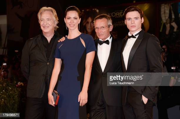 """Actors Alan Rickman, Rebecca Hall, director Patrice Leconte and actor Richard Madden attend """"Une Promesse"""" Premiere during the 70th Venice..."""