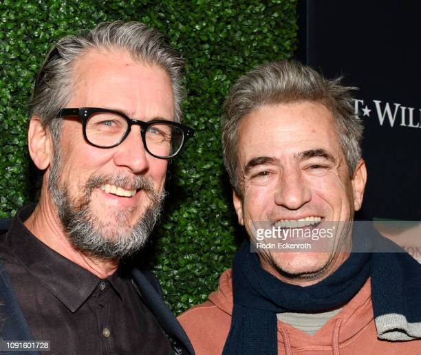 Actors Alan Ruck and Dermot Mulroney attend the premiere of Cinedigm Entertainment Group's 'SGT Will Gardner' at ArcLight Hollywood on January 08...