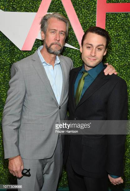 Actors Alan Ruck and Kieran Culkin attend the 19th Annual AFI Awards at Four Seasons Hotel Los Angeles at Beverly Hills on January 4 2019 in Los...