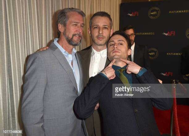 Actors Alan Ruck Jeremy Strong and Kieran Culkin attend the 19th Annual AFI Awards at Four Seasons Hotel Los Angeles at Beverly Hills on January 4...
