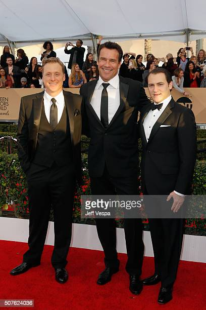 Actors Alan Tudyk David James Elliott and Michael Stuhlbarg attend the 22nd Annual Screen Actors Guild Awards at The Shrine Auditorium on January 30...