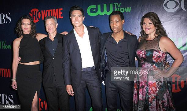 Actors Alana De La Garza Gary Sinise Daniel Henney Tyler James Williams and Annie Funke attend CBS' 2015 Summer TCA Party at Pacific Design Center on...