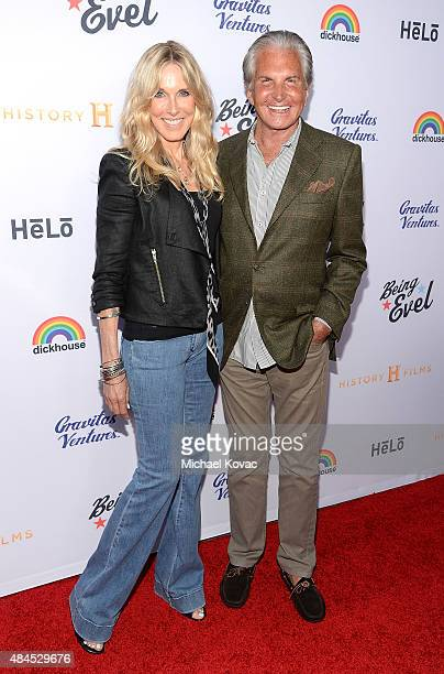 Actors Alana Stewart and George Hamilton attend the Los Angeles Premiere of 'Being Evel' on August 19 2015 in Los Angeles California