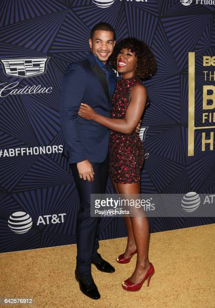 Actors Alano Miller and DeWanda Wise attend the BET's 2017 American Black Film Festival Honors Awards at The Beverly Hilton Hotel on February 17 2017...