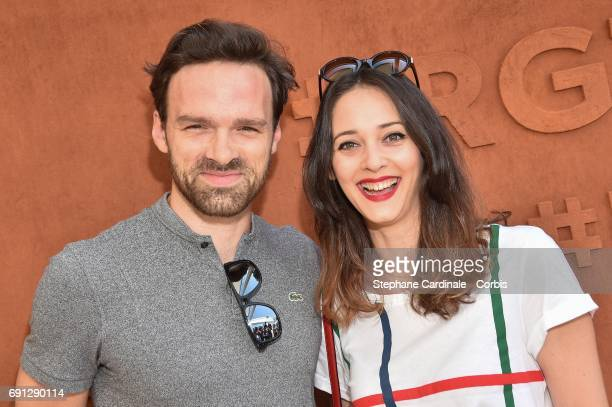 Actors Alban Lenoir and Anne Serra attend the 2017 French Tennis Open Day Five at Roland Garros on June 1 2017 in Paris France